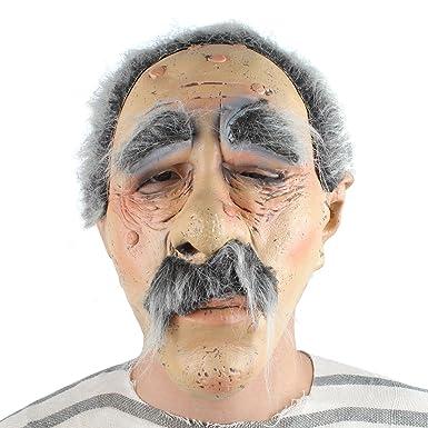 Amazon.com: Macho Oldie Máscara Látex Enfermos Sleepy Old ...