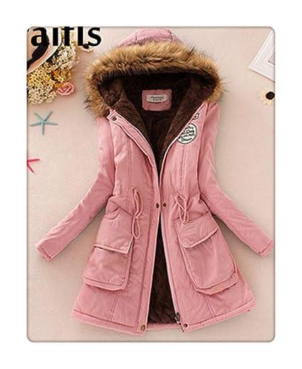 87c6127ff Amazon.com: DANT& New Long Parkas Female Womens Winter Jacket Coat ...