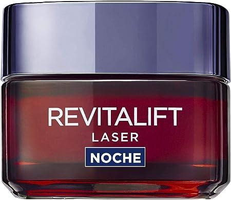 L'Oreal Paris Dermo Expertise Crema de Noche Anti-Edad Revitalift Laser, con Proxylane, 50 ml