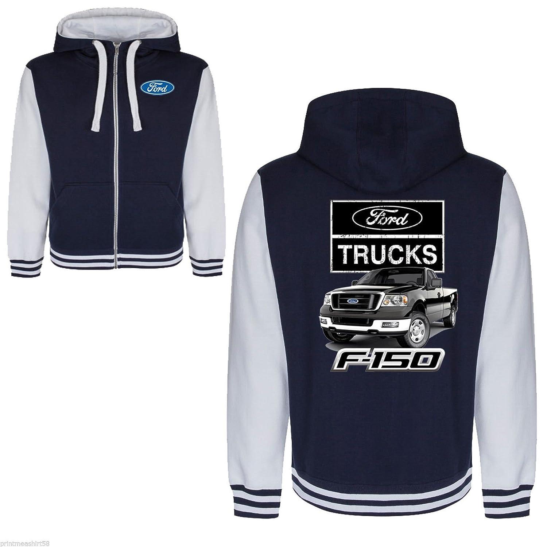 Licenced Ford Truck American Pick Up F150 Classic Varsity Hoody zipper Jacket