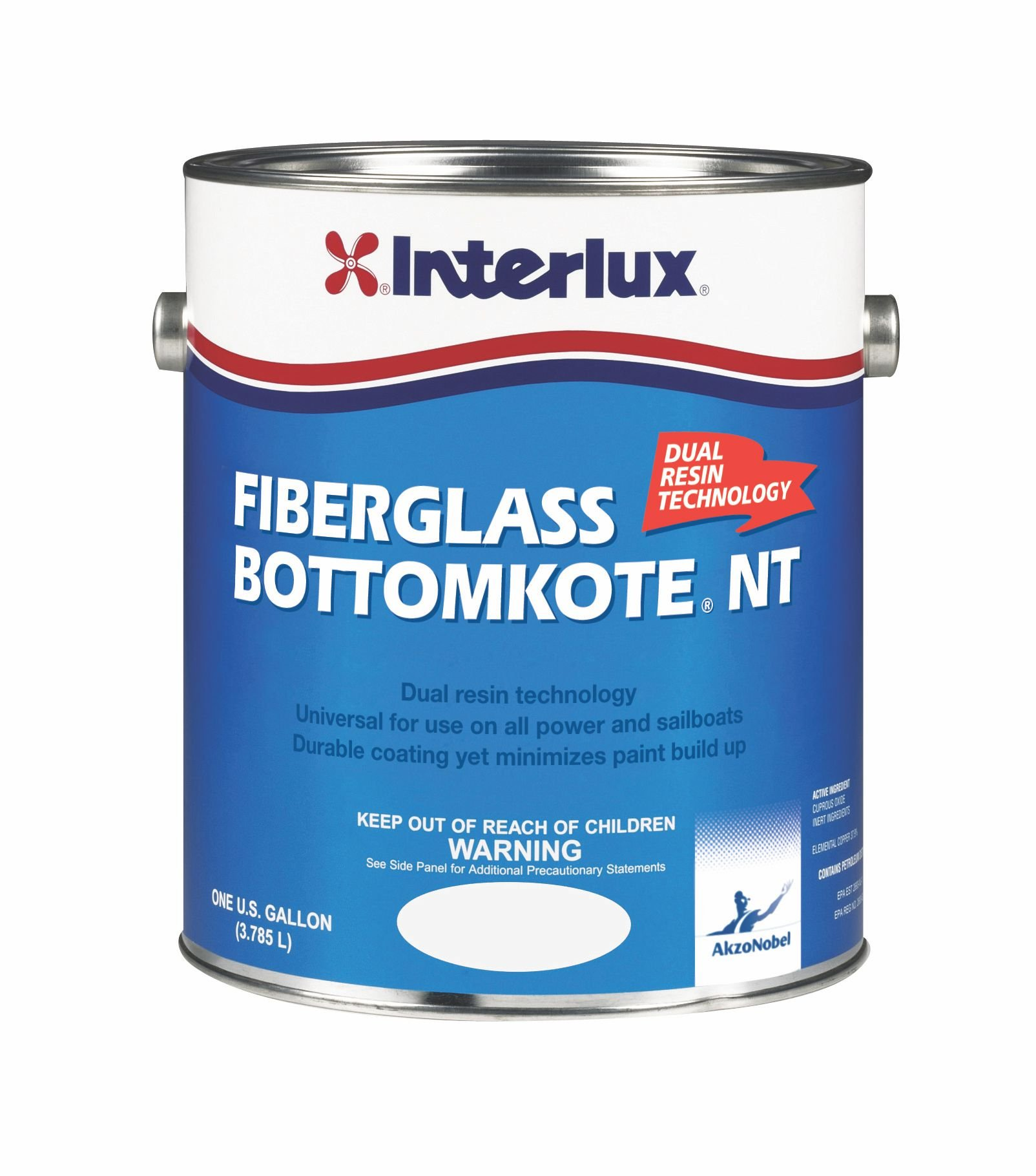 Interlux YBB379/1 Fiberglass Bottomkote NT Antifouling Paint - Black, Gallon
