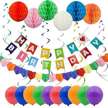 Decoración de Fiestas de Cumpleaños - Banner Feliz ...
