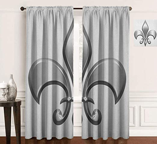 Lily Flower Symbol Nobility of Knights in Medieval Time European Iris Icon Background for Photography Kids Adult Photo Booth Video Shoot Vinyl Studio Props Fleur De Lis 10x15 FT Photography Backdrop