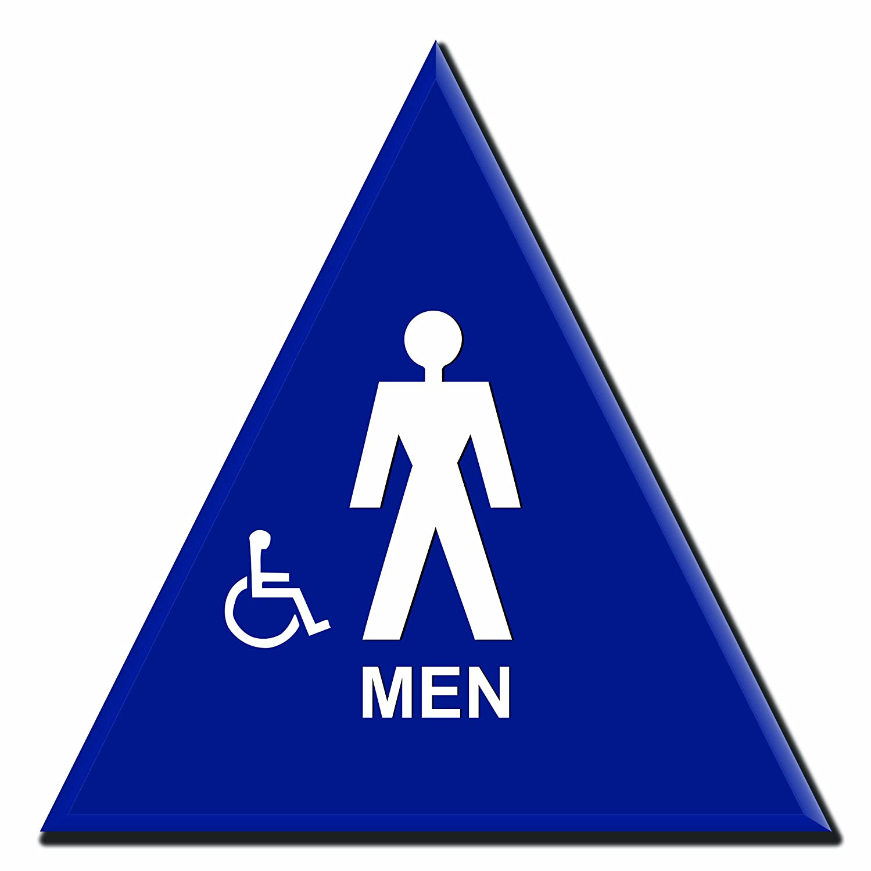 Lynch Signs 12 in。メンズシンボルサインブルー三角形とアクセス可能シンボル B00IPJ5VDO