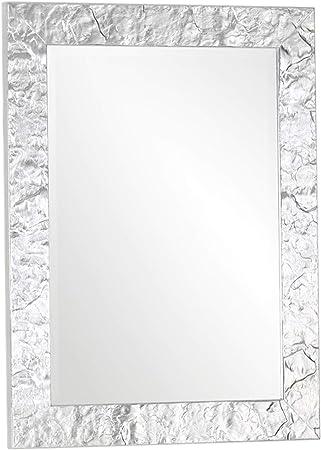 Specchio da Parete con Cornice Moderna in Legno Finitura