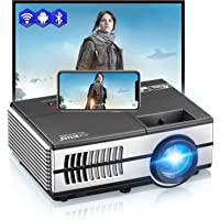 LED Mini Wireless Bluetooth HDMI Projector Portable Home Theater Smart Android WiFi Projectors Multimedia Outdoor Movie…>