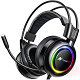 ABKONCORE Shoker Gaming Headset with Noise Canceling Mic - PC Headset with Dynamic Sensory, 7.1 Surround Sound, Soft…