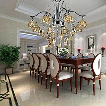 Elegant Romantisch LED Deckenleuchte Rostfreier Stahl Lampen Braun Farbe  Schatten Modern Hängelampen Zum Schlafzimmer Wohnzimmer,
