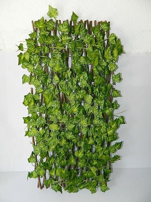 Barrera artificial de hojas para el jardín, seto artificial, parra extensible: Amazon.es: Hogar