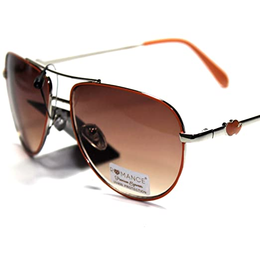 0d593e6925e9 Image Unavailable. Image not available for. Color   RO1-S5 Romance Eyewear  Elegant Stylish Women s Aviator Sunglasses