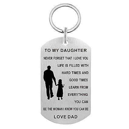 Dad A hija llavero Gift- nunca olvidar que I Love You, Be la ...
