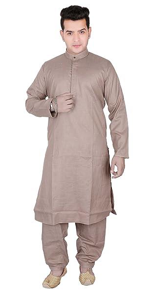 Desi Sarees Pijama Kurta de Vestir Casual de algodón para Hombres Salwar Kameez Sherwani 1803: Amazon.es: Ropa y accesorios