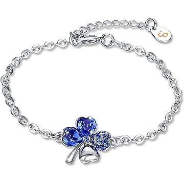 Fairy Season Women's Tennis Bracelet Bangle Blue Crystals from Swarovski Christmas Jewelry Gifts