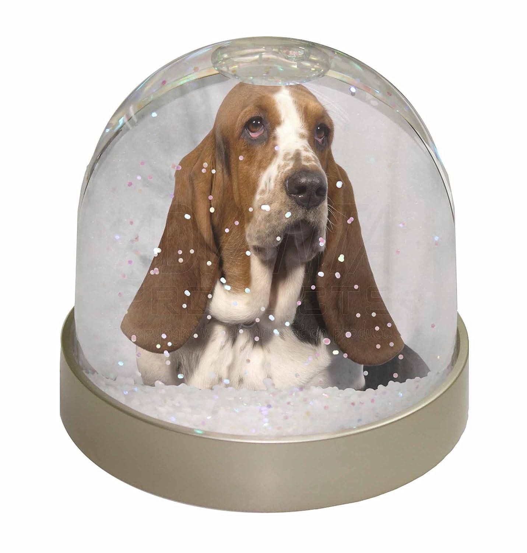 Advanta Basset Hound Dog Snow Waterball, Multi-Colour, 9.2 x 9.2 x 8 cm Advanta Products AD-BH6GL
