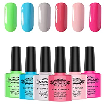 Amazoncom Perfect Summer Gel Nail Polish Inventory Clearance