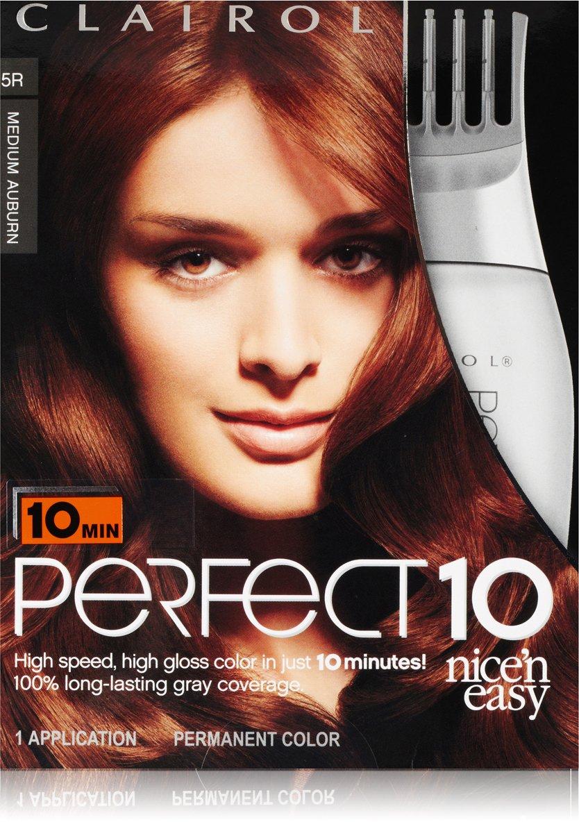 Amazon Clairol Perfect 10 By Nice N Easy Hair Color 5r Medium