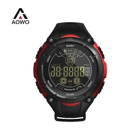 AOWO X7 Reloj Inteligente Pulsera Digital Smartwatch IP68 50m Impermeable Reloj Deportivo Bluetooth 4.0 Al Aire