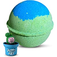 """1 Natural Bath Bomb with Surprise Mini Toys Inside For Kids""""Cactus"""" - Collectible Toys in Perfect Safe For Kids""""Island…"""