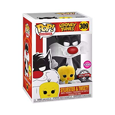 Funko POP! Animation: Looney Tunes #309 - Sylvester & Tweety [Flocked] Exclusive: Toys & Games