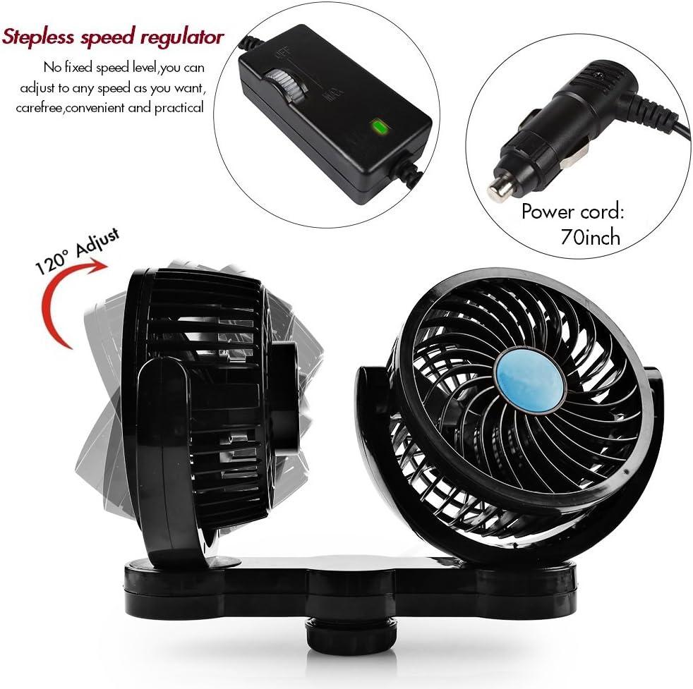 Afterpartz HX-02-12V - Ventilador doble para coche (12 V): Amazon ...