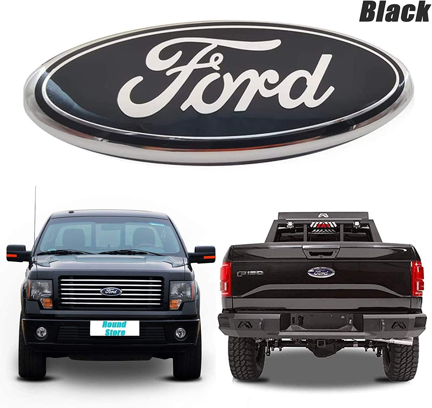 9inch Ford F150 Emblem Front Grille Tailgate Emblem Oval 9