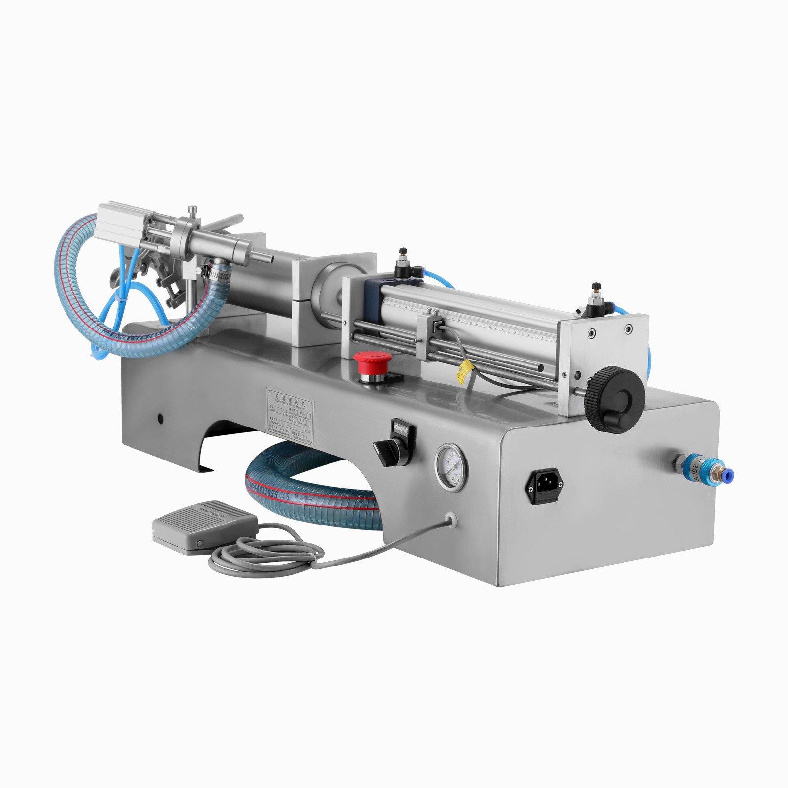 Forkwin Horizontal Full Pneumatic Liquid Filling Machine 100-1000ml Liquid Filling Machine Semi Automatic 5-20bottles/min Liquid Filling Machine for High Viscosity Fluid