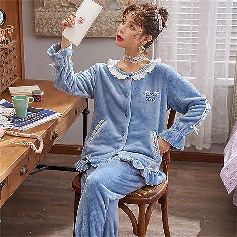 DUJUN Pijama Suave para Mujer, Modelos de otoño e Invierno ...