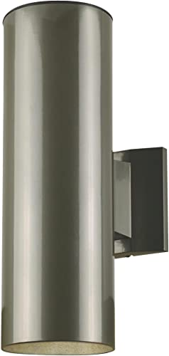 Westinghouse Lighting 6797500 Two-Light Outdoor Wall Fixture, Polished Graphite Finish on Steel Cylinder,