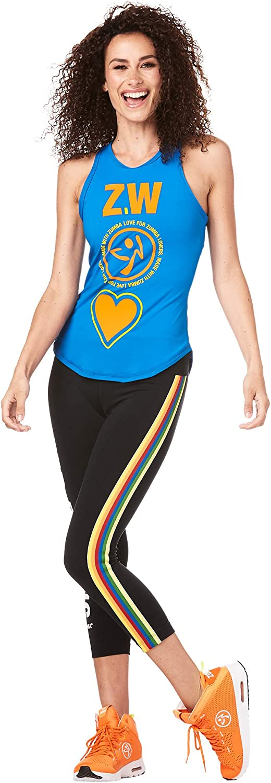 Zumba Camicia Smanicata con Collo per lallenamento della Moda per Donna