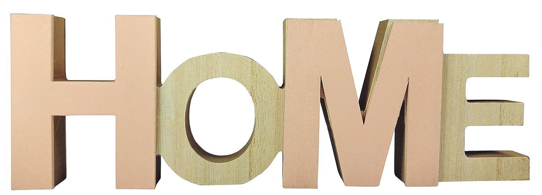 Amazonde Khevga Wohnzimmer Deko Schriftzug Home Holz In Rosa