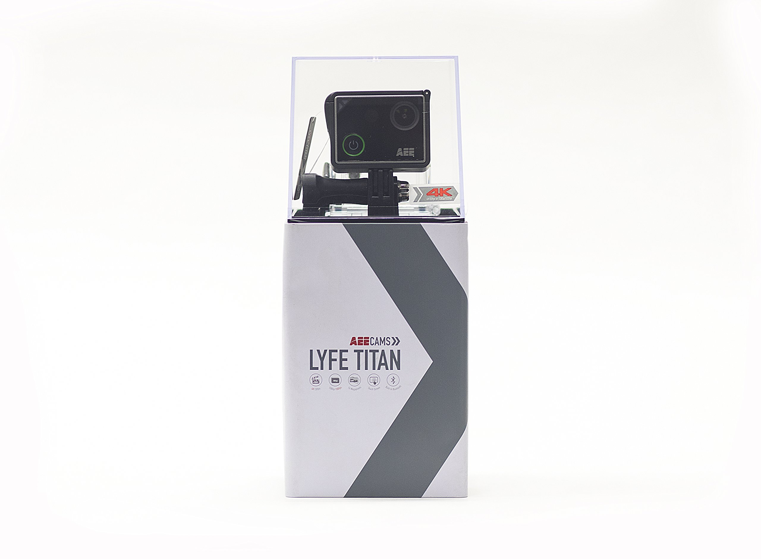 AEE Technology LYFE TITAN 4K Lifestyle Wi-Fi Camera Time-Lapse Slow Motion Waterproof Case Included (S90A)