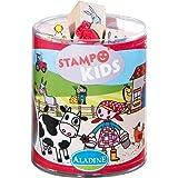 """Aladine - Stampo Kids, kit 15 sellos, diseño """"En la granja"""" (ALSE03311)"""