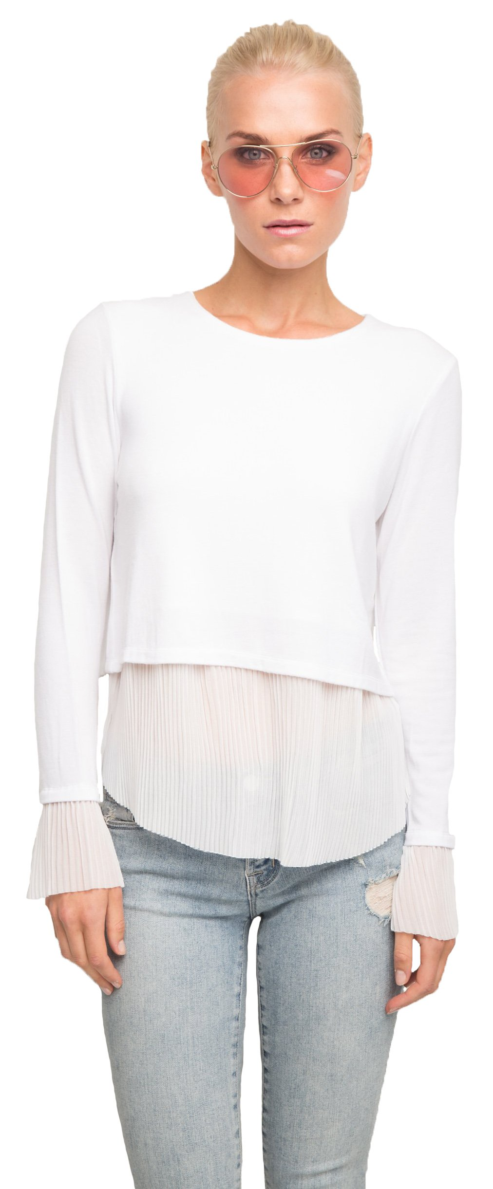 Generation Love Denise Top With Pleated Cuff and Hem, s