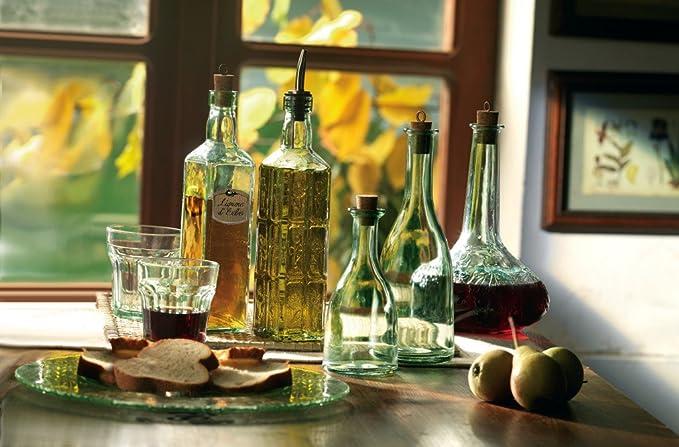 Juego de 2, casa de campo,botella Eticat, 50 cl botellas de vidrio de Bormioli Rocco. Calidad Superior vajilla italiano (6,6618).: Amazon.es: Hogar