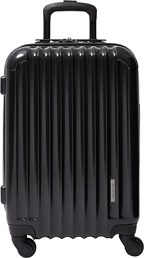 Aer de Aer Premium Carry On Luggage Spinner - Super Light Weight, Maximum Capacity - The Carry On, Re-Imagined, Jet Black