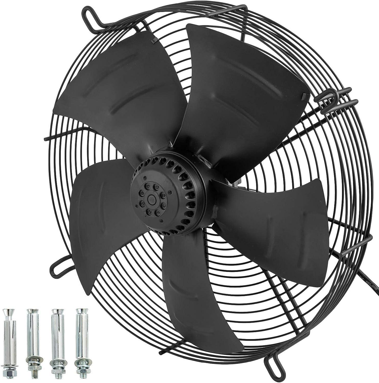 Extractor industrial Ventilación de escape axial de metal de 16 pulgadas Ventilador de aire comercial Ventilador de 4800m3 / h Ventiladores de pared de ventilación inteligente Extractor de humos