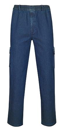 Herren Jeans Stretch Schlupfhose Schlupfjeans Gummizughosen Sommer  Kollektion-Blue-Jeans-M 8972a58cdc