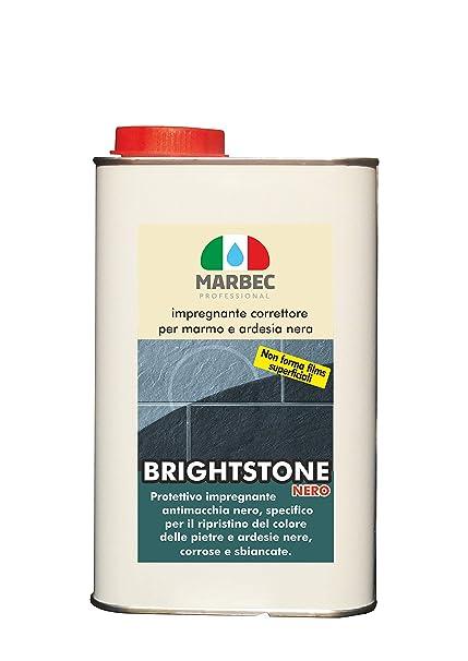 Marbec - BRIGHTSTONE Nero 1LT | Impregnante Corrector para mármol y Pizarra Negra