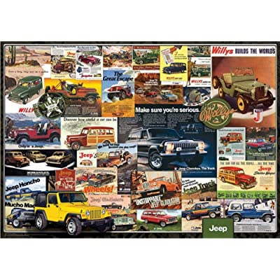 Gereric Jigsaw Puzzle 1000 Piece for Adults Kids Children Wooden Classic Puzzle Landscape DIY Collectibles Modern Home Decoration Gift,Jeep Series: Toys & Games