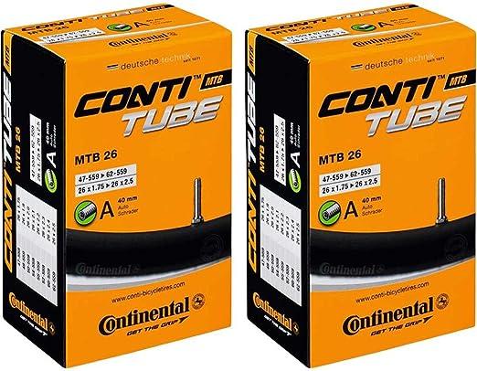 2x Continental Schlauch 32-47//355-400 18Zoll A40 Compact schwarz 0180026Fahrrad