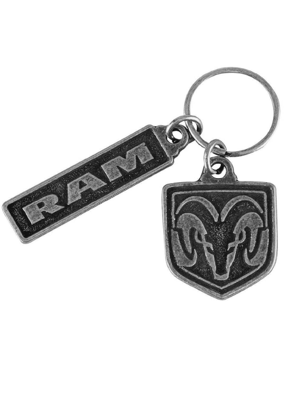 Ram Custom Shield and Word Keychain
