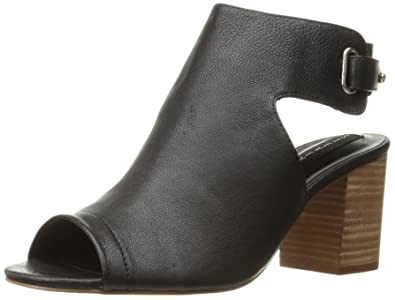 STEVEN by Steve Madden Women's Venuz Dress Sandal, Black Leather, ...