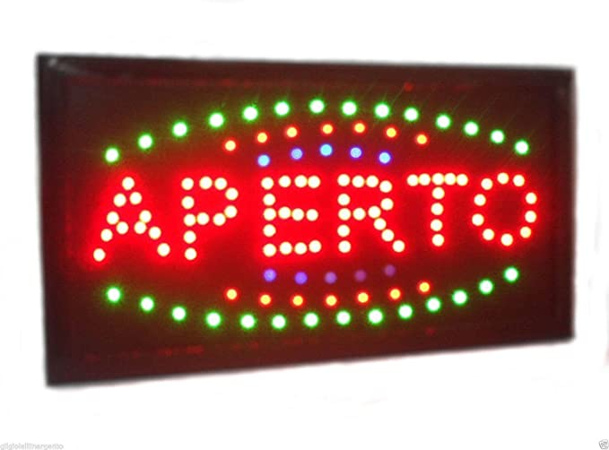 Cartel luminoso LED con texto