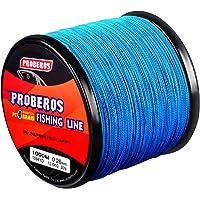 Proberos Braided Fishing Line 4/8/9 Strands Weaves PE Superbraid Multifilament Braid Superline Abrasion Resistant Wire…