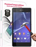PThink® 0.3mm Ultra-thin Tempered Glass Screen Protector for Sony Xperia Z2 with 9H Hardness/Anti-scratch/Fingerprint resistant (Sony Xperia Z2)