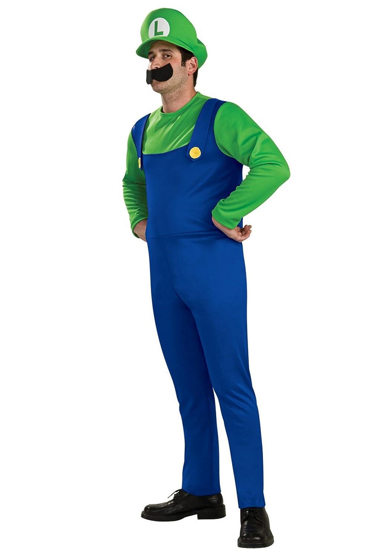 Luigi Costume - Mens (disfraz): Amazon.es: Juguetes y juegos