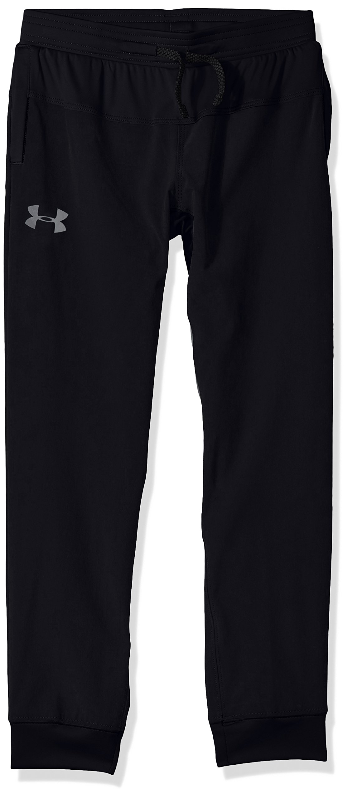 Under Armour Boys Jersey Lined woven Pants, Black (001)/Graphite, Youth X-Small by Under Armour