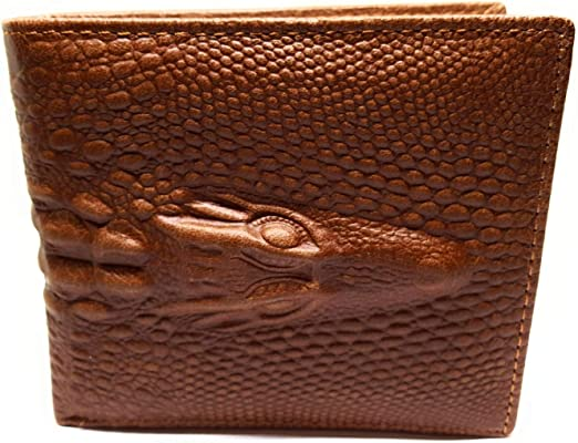 Leather 8  X 10  Light Metallic Brown Embossed Mock Croc  Alligator Cowhide