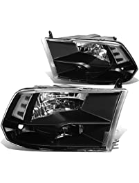 DNA Motoring HL-OH-DR09QUA-BK-CL1 Headlight Assembly (Driver and Passenger Side)