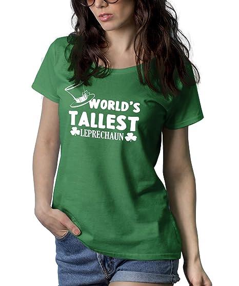 8e430b96 Amazon.com: Decrum Worlds Tallest Leprechaun Shirt - Womens Green St  Patricks Day Shirt: Clothing